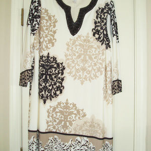 Chico's Beaded Neckline Dress